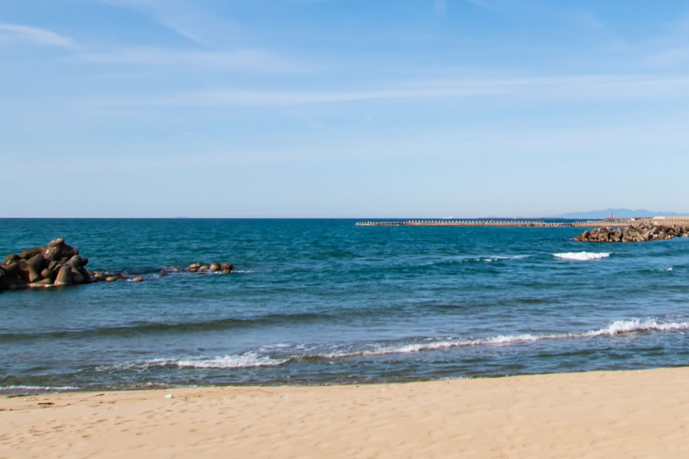 新潟県新潟市中央区 日和浜海岸